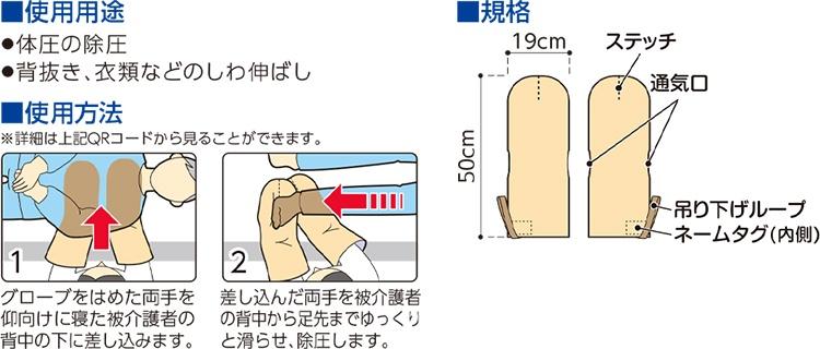 体圧除圧グローブの用途と使用方法と規格